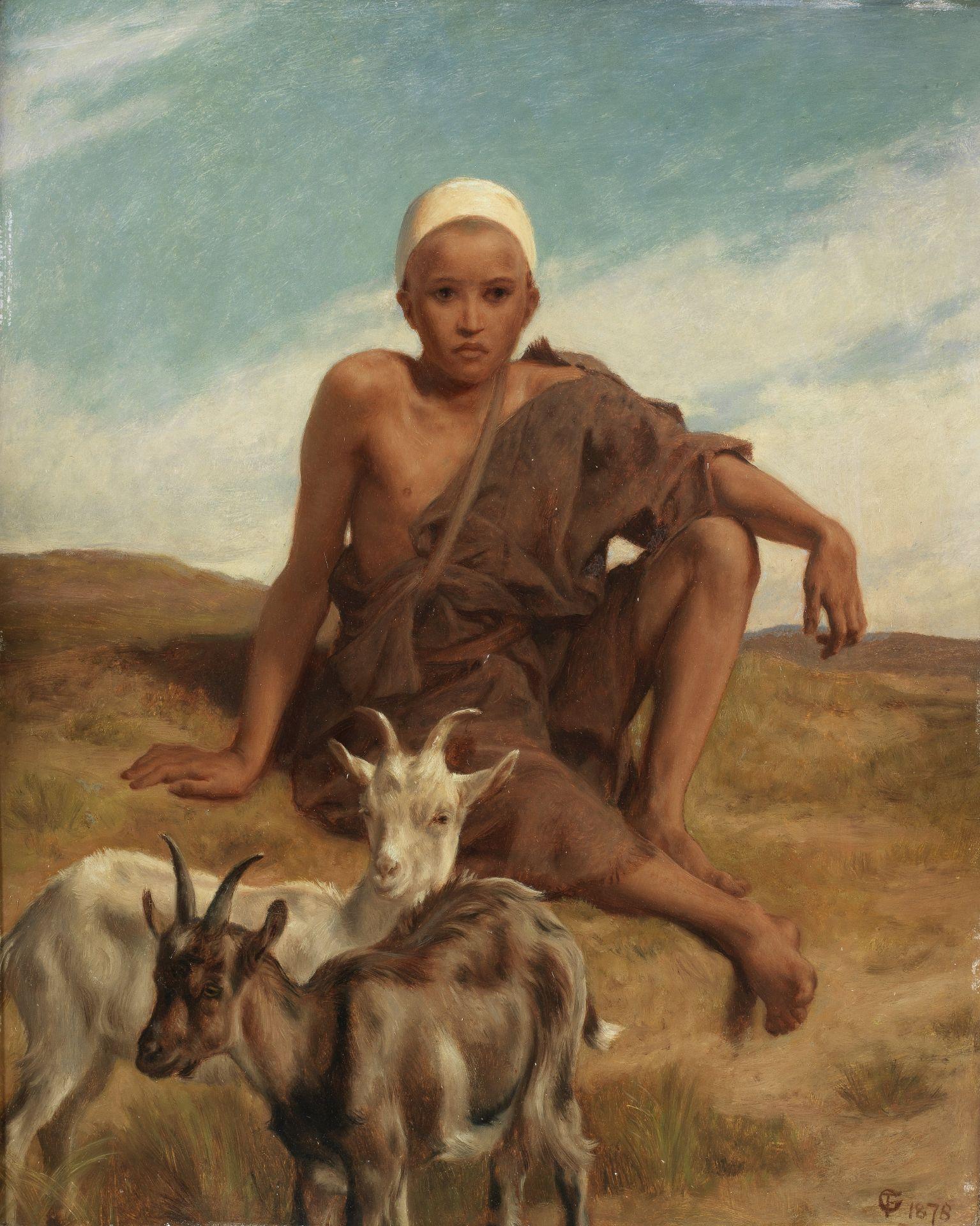 Frederick Goodall, RA (British, 1822-1904) The little goatherd