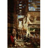 Charles Robertson, RWS (British, 1844-1891) The Street of the Ghoreeyah, Cairo