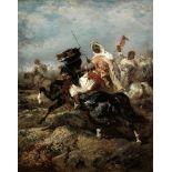Adolf Schreyer (German, 1828-1899) The advance