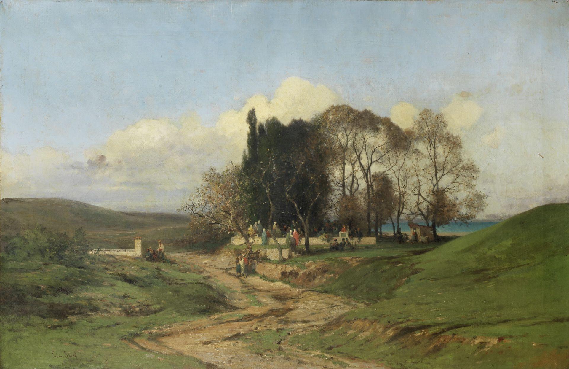 Germain Fabius Brest (French, 1823-1900) A gathering near the Bosphorus