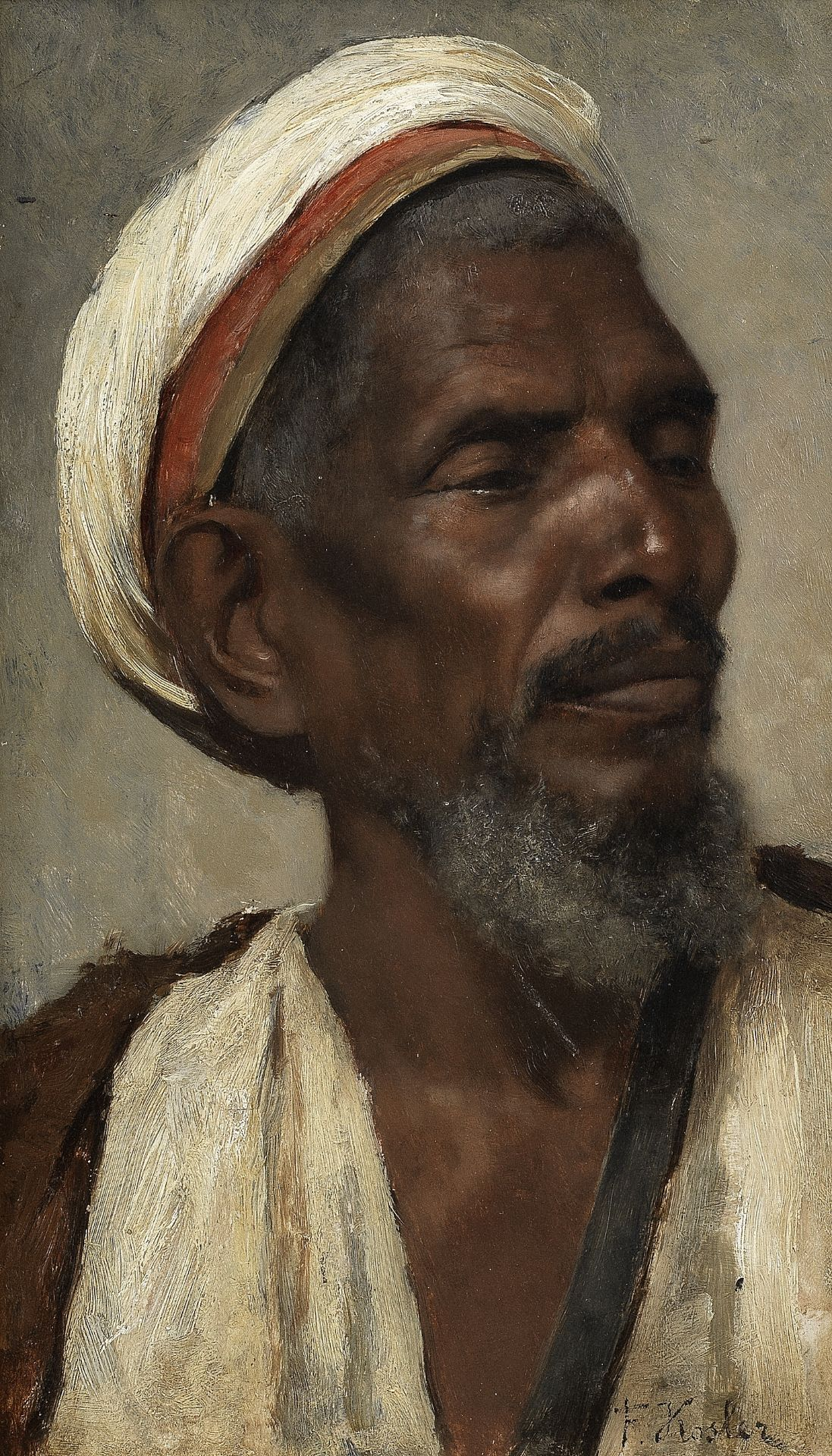 Franz Xavier Kosler (Austrian, 1864-1905) Portrait of a man