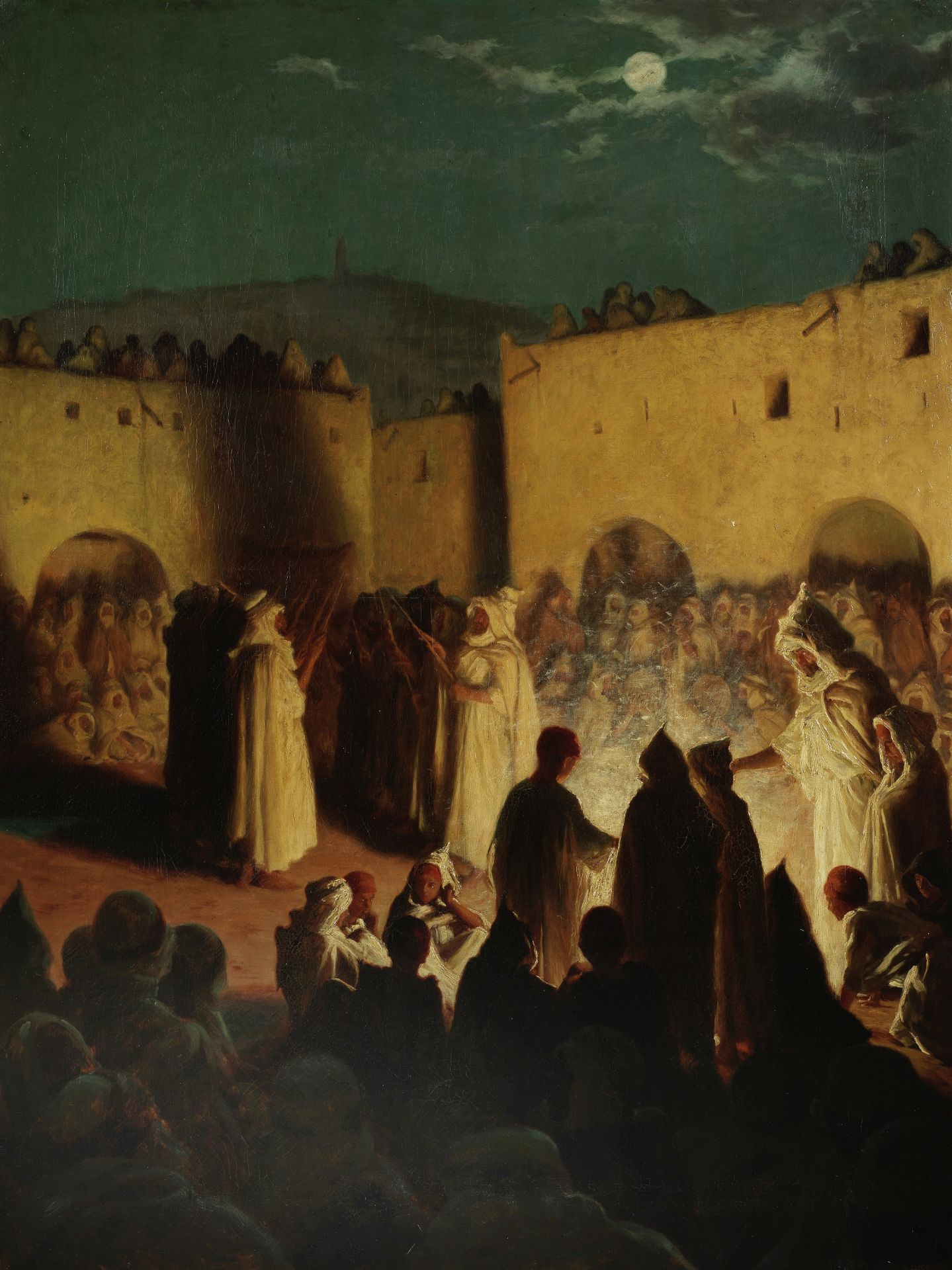 Thomas Frederick Mason Sheard (British, 1866-1921) A night celebration of a Muslim Eid