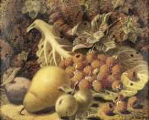 Oliver Clare (British, 1853-1927) Still lifes of fruit each 17 x 21cm (6 11/16 x 8 1/4in). (2)