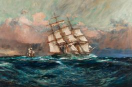 Charles Edward Dixon (British, 1872-1934) The clipper ship Thermopylae