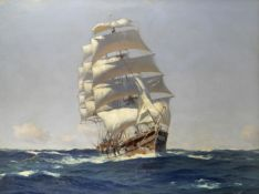 Thomas Jacques Somerscales (British, 1842-1927) 'The Nitrate Ship'