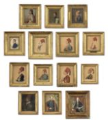 Italian School (19th century) 14 Portraits of Heroes of the Greek War of Independence, 1821