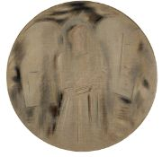 Constantinos Parthenis (Greek, 1878-1967) Angel /Discipline diameter 125 cm. (Painted in c. 1939-...
