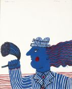 Alecos Fassianos (Greek, born 1935) Le futur marié 100 x 81 cm.