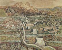 Nikos Hadjikyriakos-Ghika (Greek, 1906-1994) Landscape, 1971 38.5 X 46 cm.