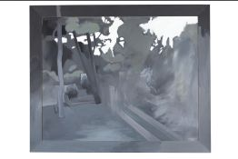 Costas Tsoclis (Greek, born 1930) Axiou 15 140.5 x 170.5 cm.