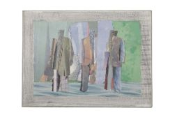 Pavlos (Pavlos Dionyssopoulos) (Greek, 1930-2019) Vitrine 53 x 71.5 x 3.5 cm. (Executed in 1987.)
