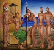 Nikos Engonopoulos (Greek, 1907-1985) Nestor 71 x 78 cm. (Painted in 1958.)
