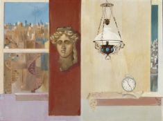 Spyros Vassiliou (Greek, 1902-1985) Five to five 97 x 130 cm.