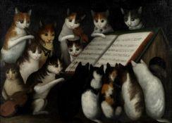 Naïve School, 19th century Cat chorus