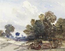 William James Müller (British, 1812-1845) Gypsy encampment near Gillingham