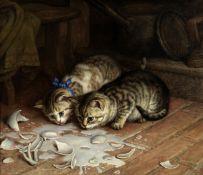 Frank Paton (British, 1856-1909) It's no use crying over spilt milk