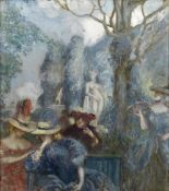 Charles Conder (British, 1868-1909) Confidences (There is a preparatory oil sketch for a still ...
