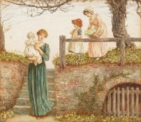 Kate Greenaway (British, 1846-1901) The old steps