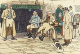 Cecil Charles Windsor Aldin, RBA (British, 1870-1935) Coaching gossip (Together with a print aft...