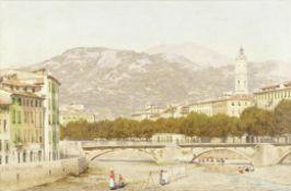 John Mulcaster Carrick (British, 1833-1896) A view of Nice