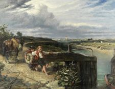 Frederick Charles Underhill (British, active 1851-1896) Opening the lock
