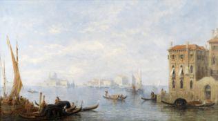 Jane Vivian (British, active 1869-1877) A distant view of Santa Maria della Salute