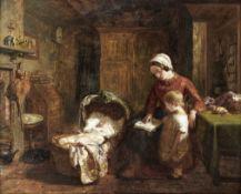 George Smith (British, 1829-1901) Sleeping peacefully