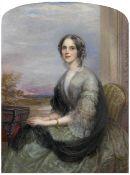 George Richmond, RA (British, 1809-1896) Portrait of Elizabeth Winthrop