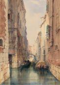 James Holland RWS (British, 1799-1870) A canal scene, Venice