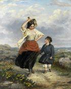 Charles Wynne Nicholls (Irish, 1831-1903) Siblings on a rural road