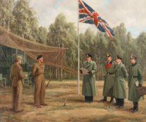 Conrad Leigh (British, born 1883) Surrender at Lüneberg Heath, 4 May 1945