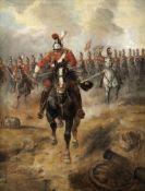 Richard Beavis (British, 1824-1896) Charge of the 1st Life Guards at Waterloo