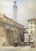 William Callow, RWS (British, 1812-1908) Piazza dei Signori, Verona