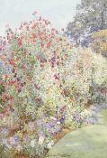Beatrice Parsons (British, 1870-1955) 'Michaelmas Sweet Peas, Holme Grange, Wokingham'