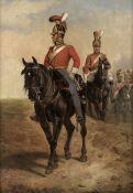 Richard Beavis (British, 1824-1896) 2nd Life Guards at Waterloo