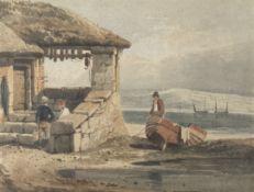 Samuel Prout, FSA, OWS (British, 1783-1852) Fisherman near Plymouth
