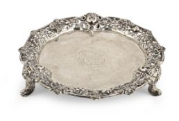 A George II silver waiter William Cripps, London 1752