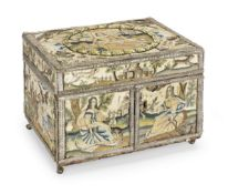 A late 17th century needlepoint box