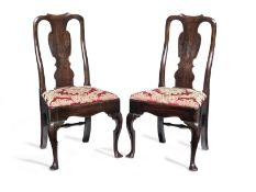 A pair of George I walnut chairs (2)