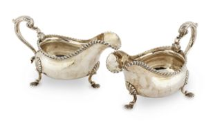 A pair of George III silver sauceboats Alexander Johnson, London 1763 (2)