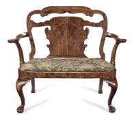 A walnut chair back sofa Early 18th century and later