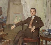Sir Gerald Festus Kelly RA, KCVO, PRA (British, 1879-1972) A Glass of Sherry in the Studio, Portr...