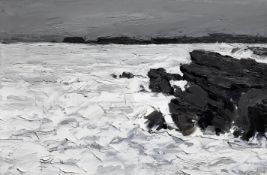 Sir Kyffin Williams R.A. (British, 1918-2006) Storm, Anglesey 50.8 x 76.1 cm. (20 x 30 in.)