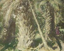 Sir William Nicholson (British, 1872-1949) Alcazar Gardens 32 x 40.5 cm. (13 x 16 1/8 in.) (Paint...