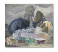 Ivon Hitchens (British, 1893-1979) The Village Forge (Heyshott Sussex) 45.6 x 50.9 cm. (18 x 20 i...