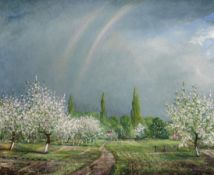 Christopher Richard Wynne Nevinson A.R.A. (British, 1889-1946) The Orchard 50.8 x 60.9 cm. (20 x ...