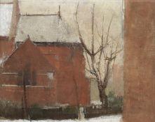 Sir William Coldstream (British, 1908-1987) Emmanuel Church, NW6 20.8 x 26.1 cm. (8 1/8 x 10 1/4 ...