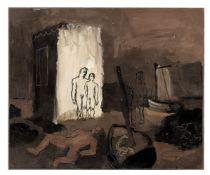 Keith Vaughan (British, 1912-1977) Antonio and Sebastian 31 x 37 cm. (12 1/4 x 14 5/8 in.) (Execu...
