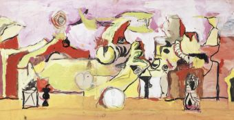 Graham Sutherland O.M. (British, 1903-1980) Study for 'The Origins of the Land' 27 x 50.5 cm. (10...