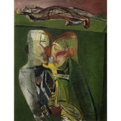 Robert Colquhoun (British, 1914-1962) Two Actors 43.7 x 33.8 cm. (17 1/4 x 13 1/4 in.) (Painted i...